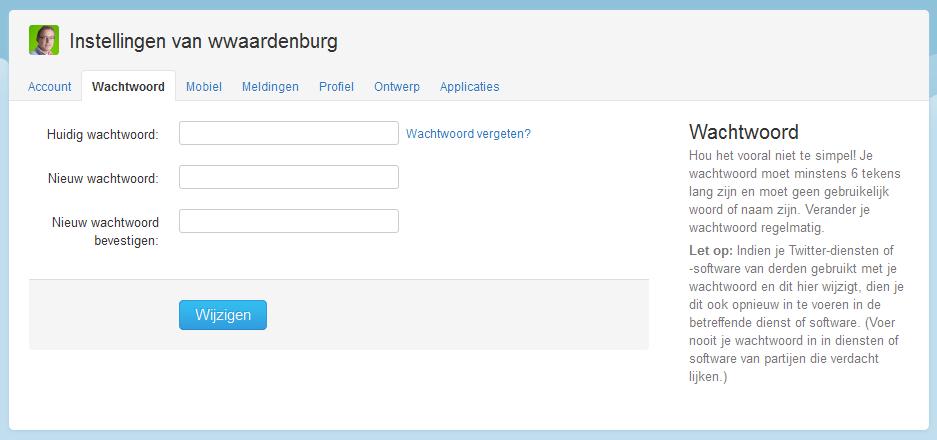 Twitter account gehackt? Wijzig je wachtwoord!