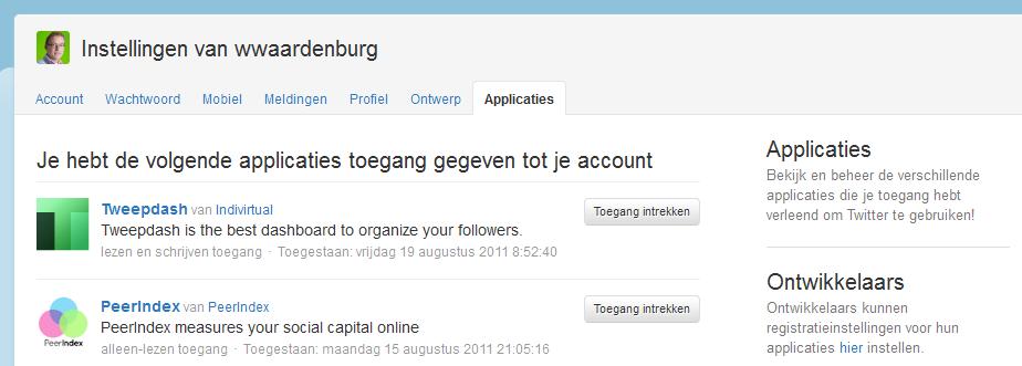 Twitter account gehackt? Check de applicaties die toegang hebben!