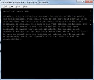 Webteksten - schrijven voor internet - handige tool, schrijven zonder afleiding