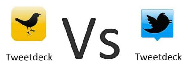 Oude versie TweetDeck vs Nieuwe versie TweetDeck