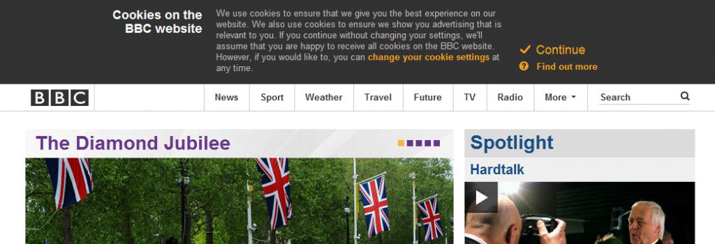BBC en de cookiewet