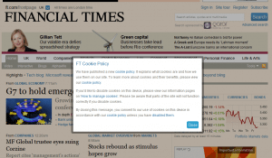 Financial Times en de Cookiewet
