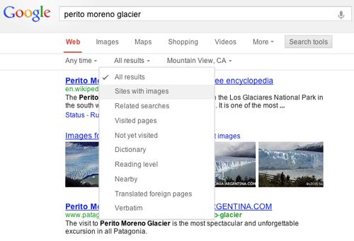Nieuwe layout Zoekmachine Google