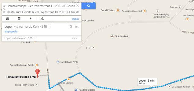 Navigatie Google Maps